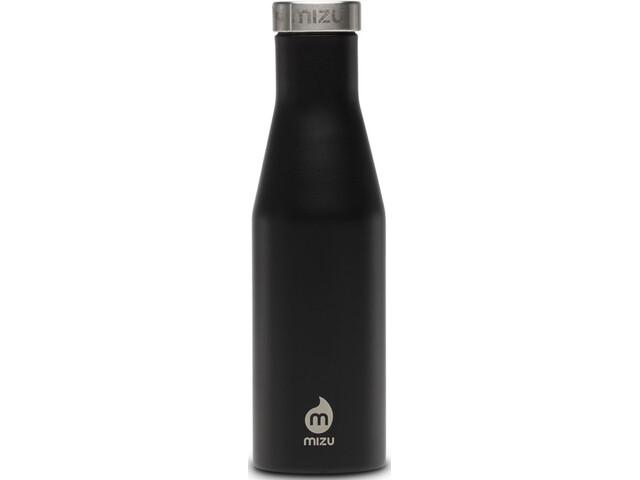 MIZU S4 Drikkeflaske with Stainless Steel Cap 400ml, enduro black